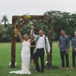 Bride and Groom after Hawaiian Wedding Ceremony