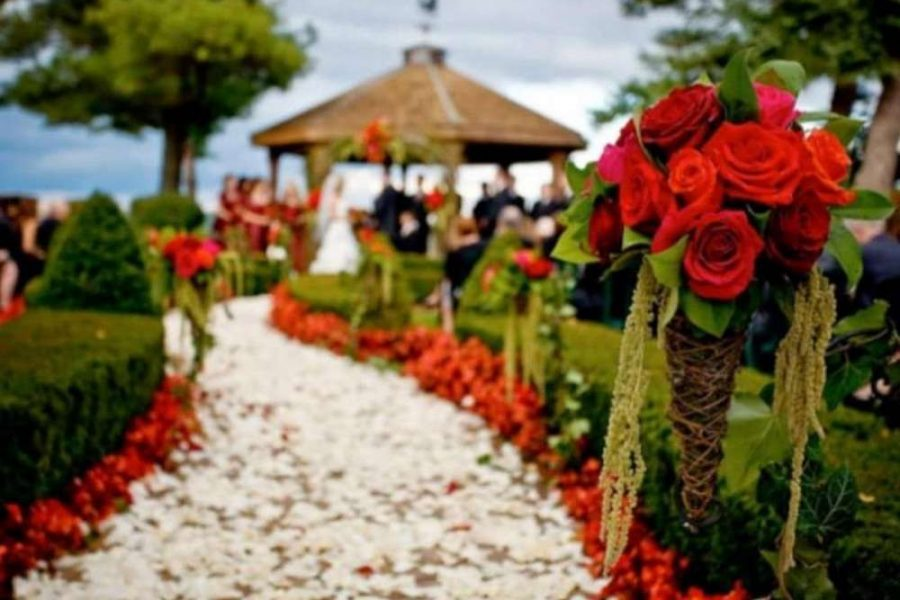 Flowered Wedding Aisle